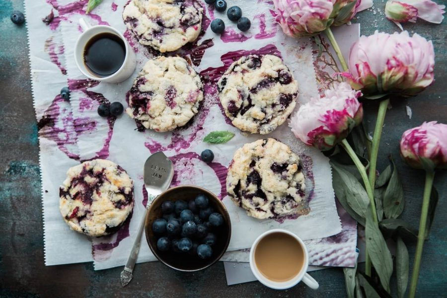Glowing Skin Blueberry and Almond Cookies