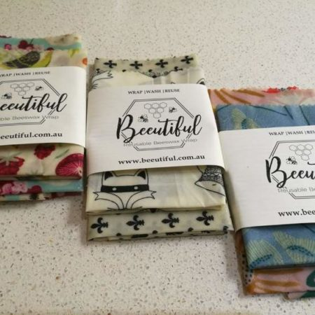 Beeginner Pack Natural Reusable Beeswax Wraps