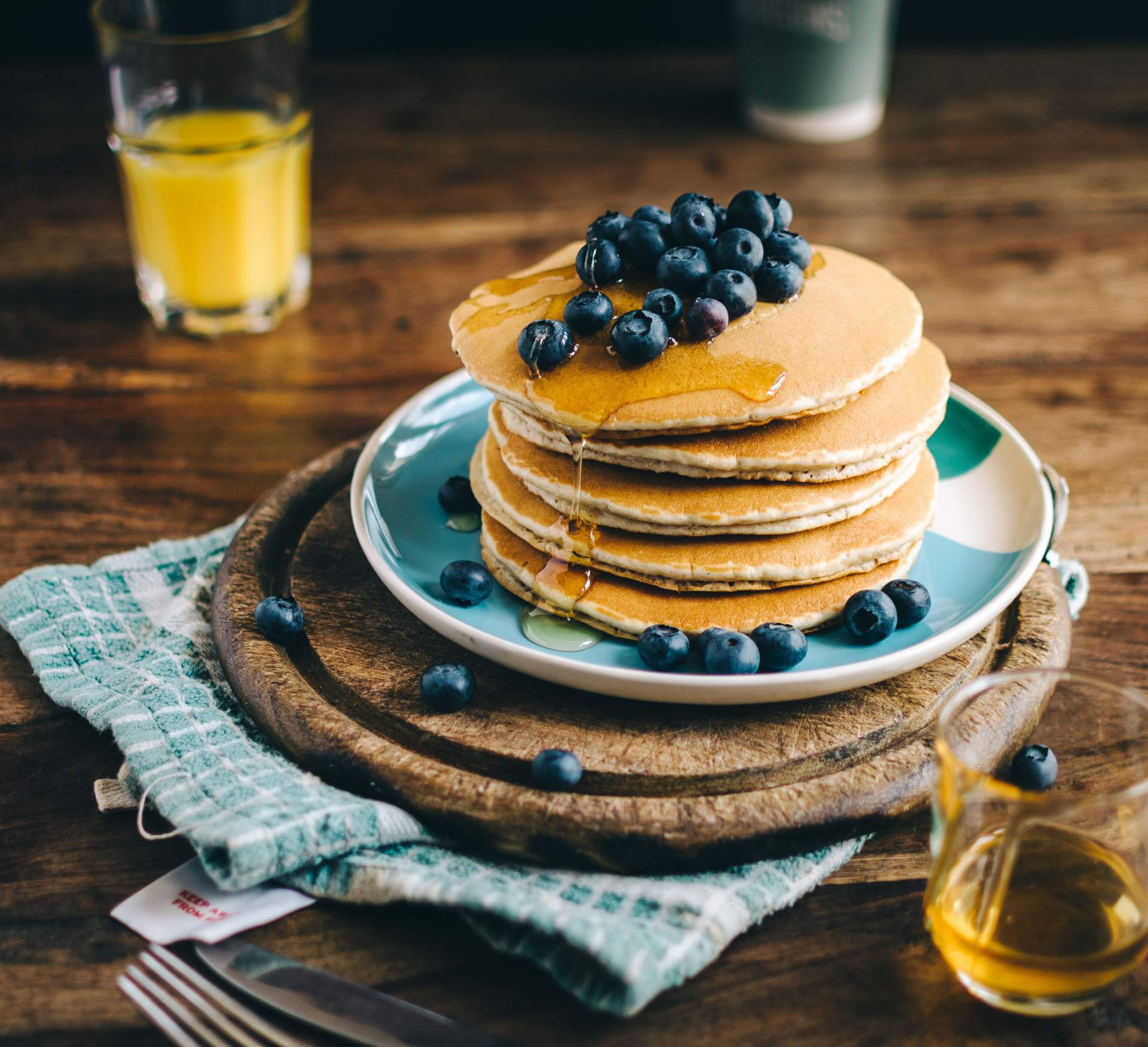 Blueberry And Banana Buckwheat Pancakes Green Foot Mama