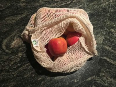 certified organic 100% cotton mesh produce bag large